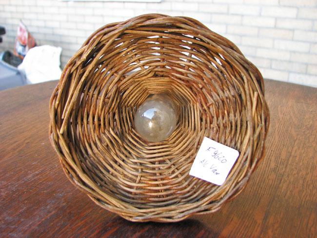 Arts & Crafts  Wicker Bud Vase F9620