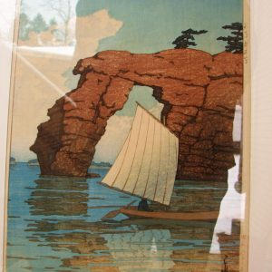 Arts & Crafts Woodblock Print F9681