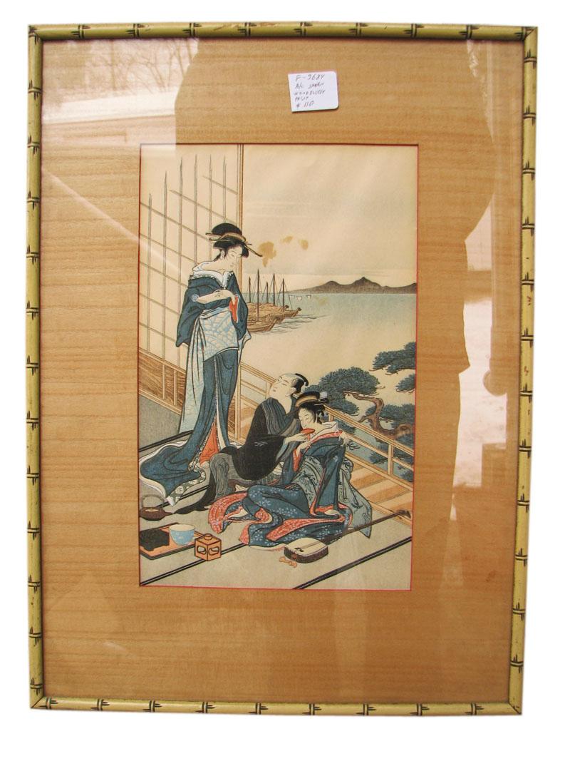 Arts & Crafts  Woodblock Print F9684