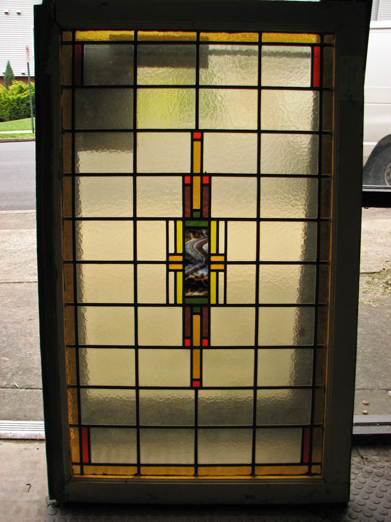 Arts & Crafts Stained Glass F9799