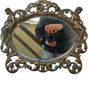 B&h Brass Table Mirror F9920