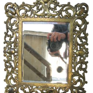 B&h  Brass Table Mirror F9921