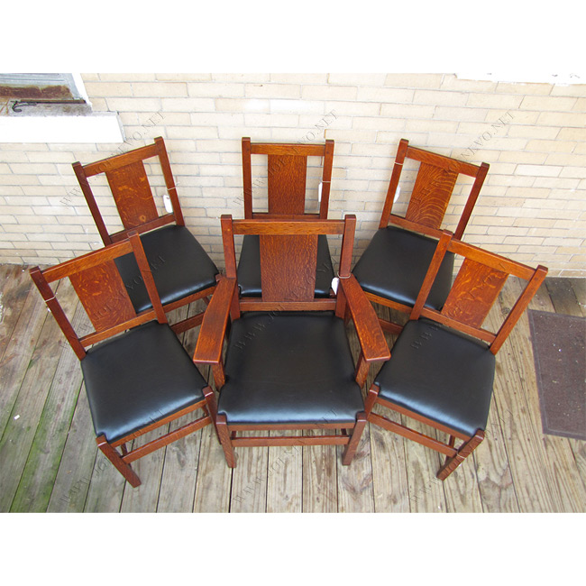 SUPERB Antique Lu0026jG STICKLEY set of six dining chairs | ff1016  sc 1 st  JoeNevo.Net : stickley dining chairs - Cheerinfomania.Com