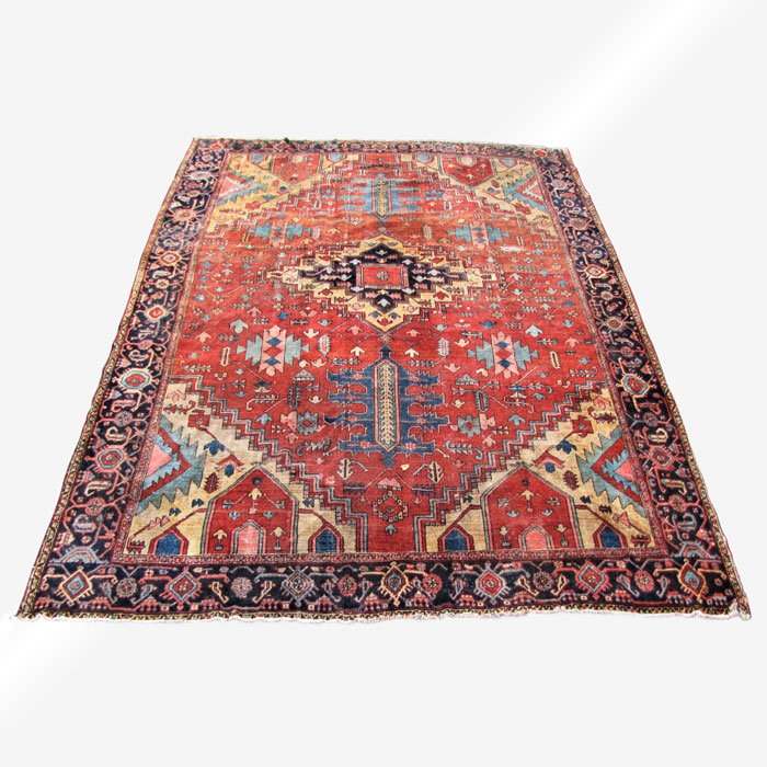 Superb Colorful Antique Serapi Rug Rr3270 Joenevo