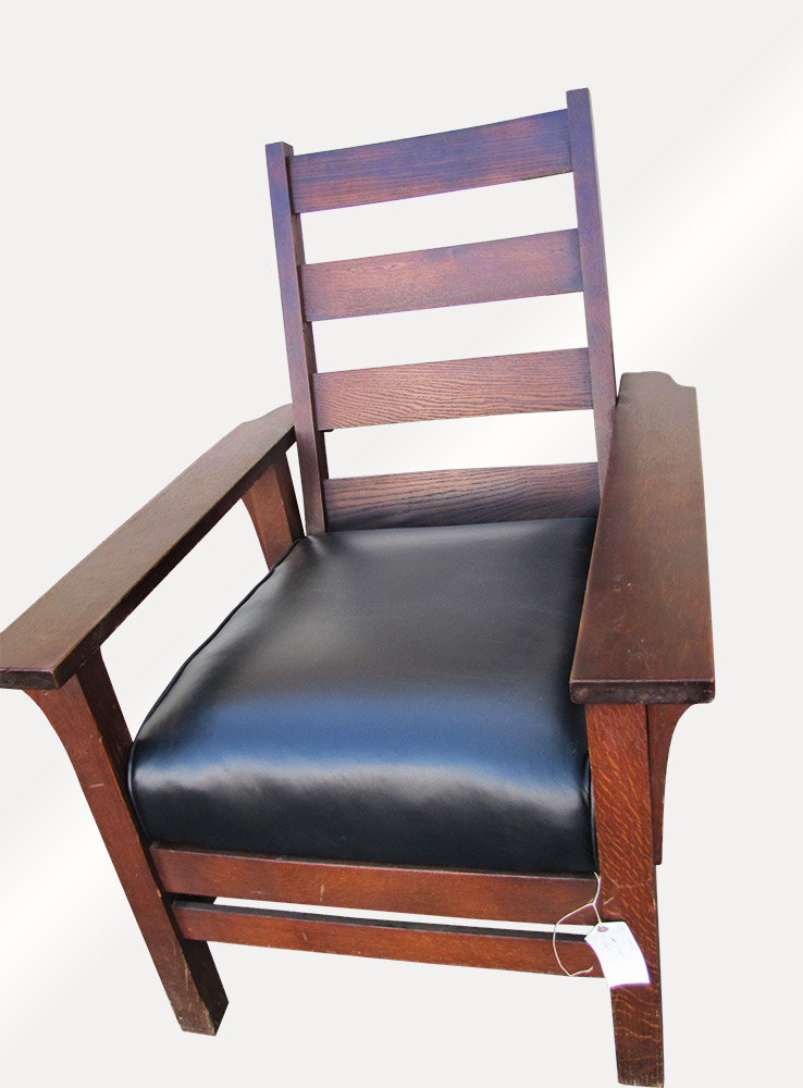 Home » Shop » Antique Furniture » Chairs » Antique Arts & Crafts Sikes Chair  Company Morris Chair w1415 (Stickley Era) - Antique Arts & Crafts Sikes Chair Company Morris Chair W1415