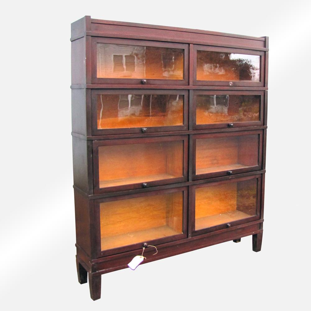Antique Wide Barrister Bookcase (Rare Size) w1629 ...