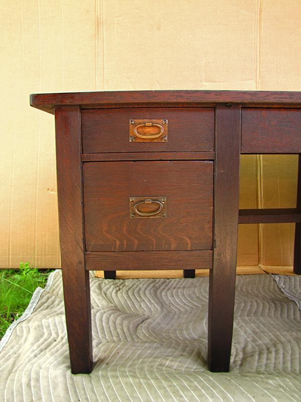Home Antique Furniture Desks Gustav Stickley 8 Leg Desk Model Number 711 W1688