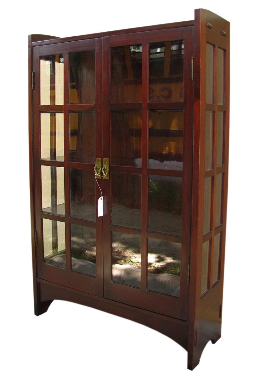 Home » Shop » Antique Furniture » Bookcases » Gustav Stickley China Cabinet  W1698