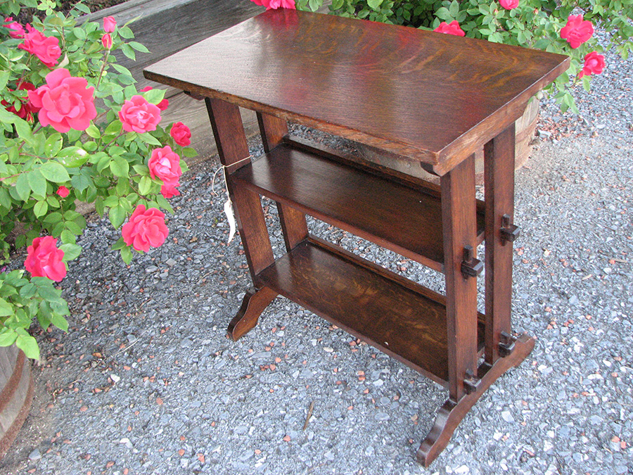 Home Antique Furniture Roycroft Little Journey Book Stand End Table W1973