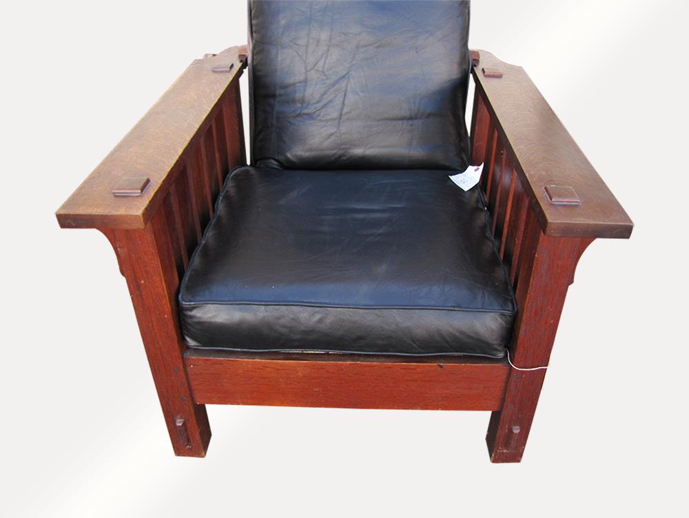 Home » Shop » Antique Furniture » Chairs » Superb Antique Lu0026jG Stickley  Onondaga Shop Morris Chair W2018