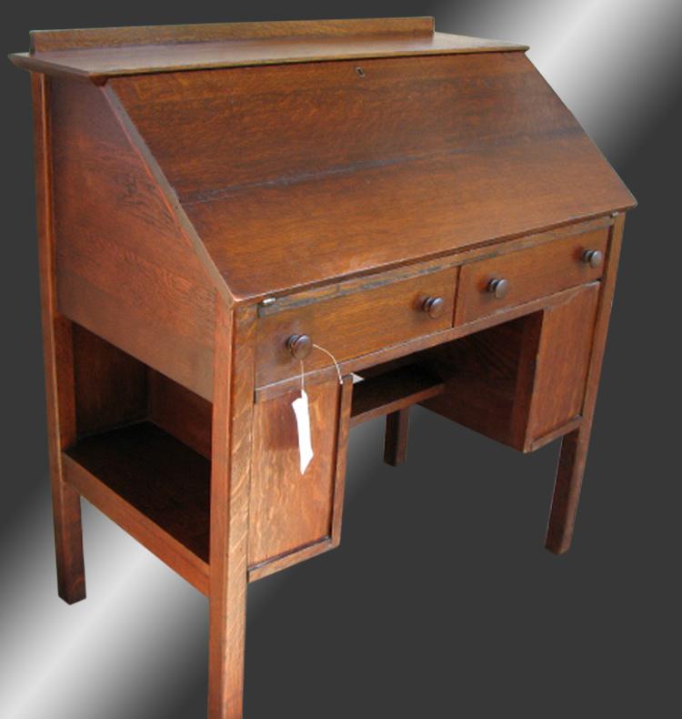 Home Antique Furniture Desks L Jg Stickley Mission Arts And Crafts Drop Front Desk W2217