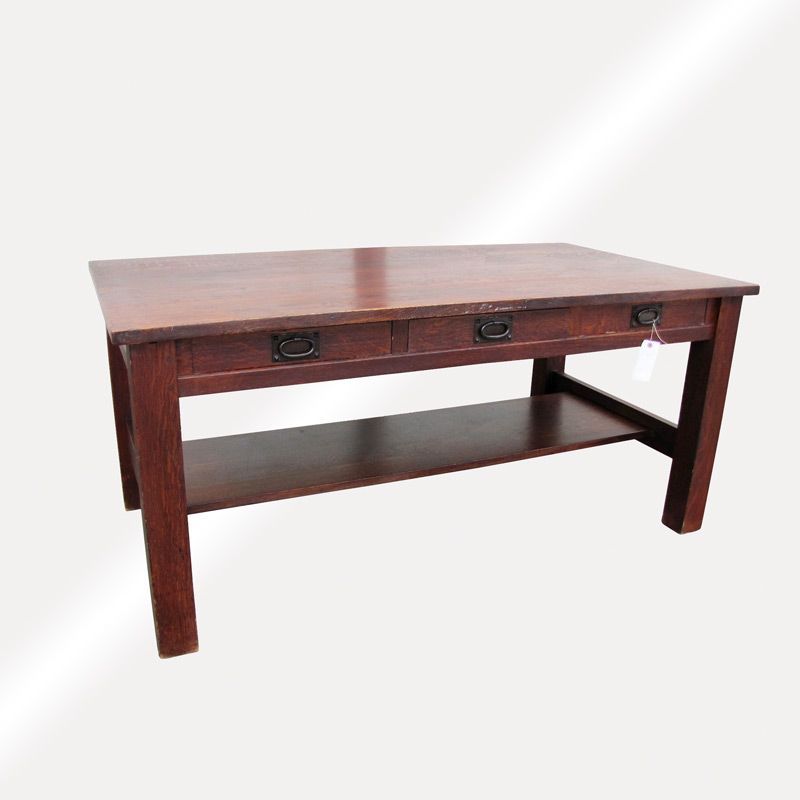 Home » Shop » Antique Furniture » Tables » Antique Gustav Stickley Large  Library Table W2415 - Antique Gustav Stickley Large Library Table W2415 - Joenevo