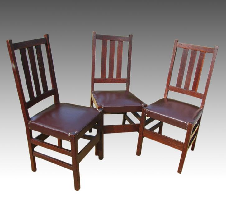 Home » Shop » Antique Furniture » Chairs » Set Of Three L U0026 JG Stickley  Chairs W2481