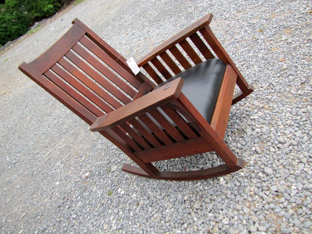 Superb Antique L Amp Jg Stickley Arm Rocking Chair W2492