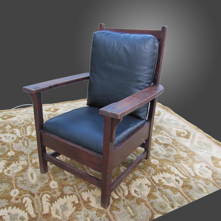Antique Larger Gustav Stickley Arm Chair W2502 Joenevo