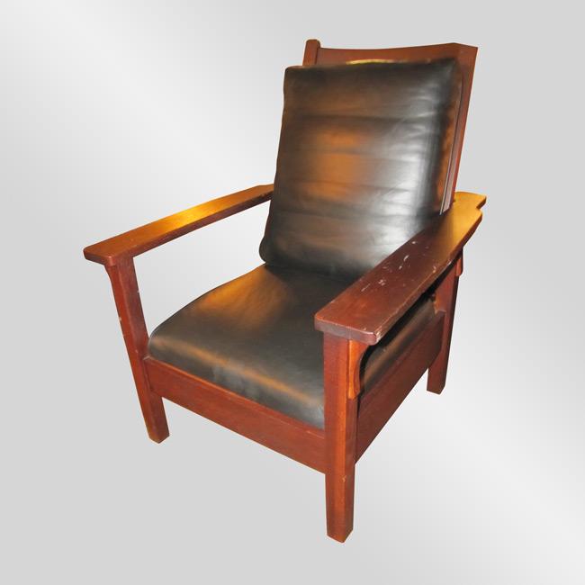 Home » Shop » Antique Furniture » Chairs » Antique Gustav Stickley Morris  Chair w2655 - Antique Gustav Stickley Morris Chair W2655 - Joenevo