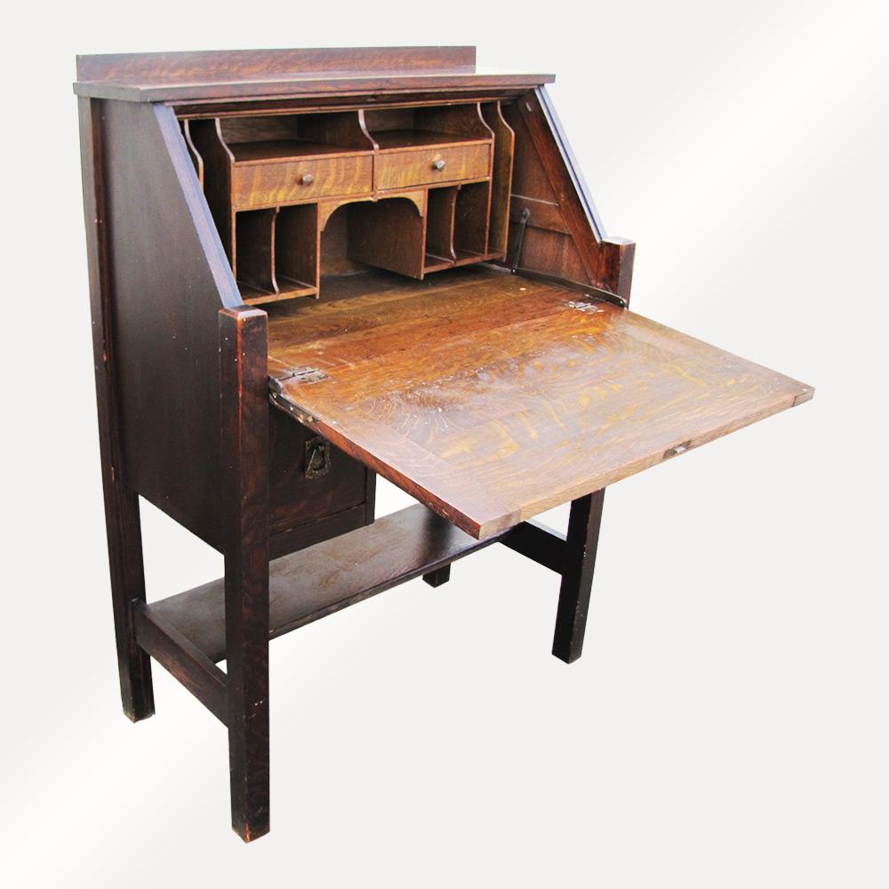 Drop Front Desk >> Antique Michigan Chair Co Drop Front Desk W3117