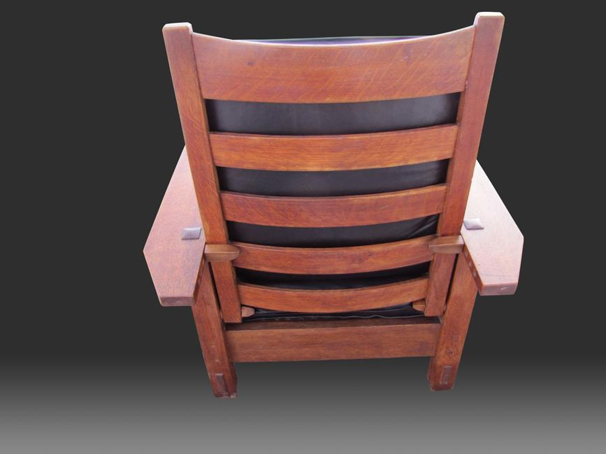 Home » Shop » Antique Furniture » Chairs » Gustav Stickley Antique Early  Morris Chair W3125 - Gustav Stickley Antique Early Morris Chair W3125 - Joenevo