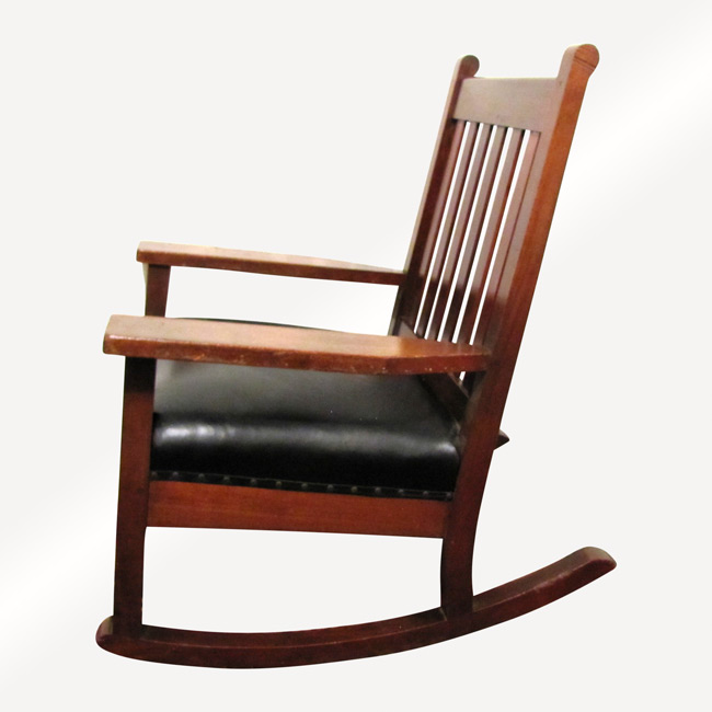 Home » Shop » Antique Furniture » Roycroft » Antique Roycroft Large Rocking  Armchair W3279
