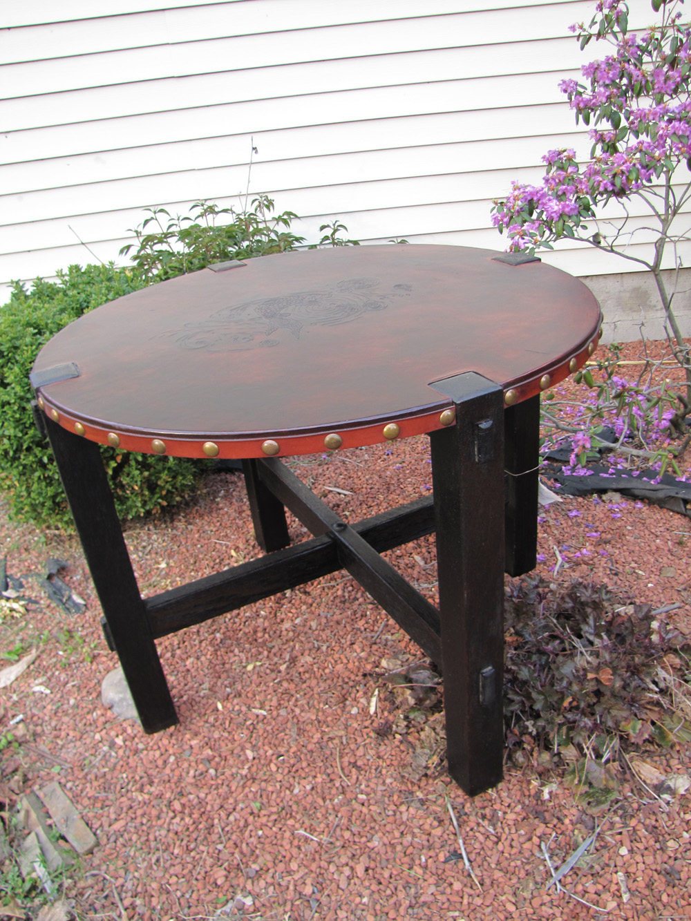 Home Antique Furniture Tables Early Tobey Gus Stickley Round Table W3289