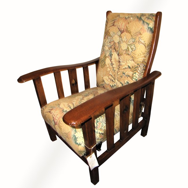 Home » Shop » Antique Furniture » Chairs » Vintage Reclining Chair with  Cutouts w346 - Vintage Reclining Chair With Cutouts W346 - Joenevo