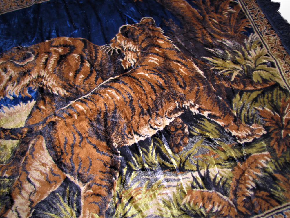 Vintage Tiger Tapestry W4034 Free Shipping Joenevo