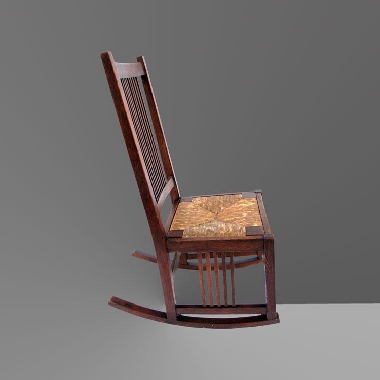 Home » Shop » Antique Furniture » Rockers » Antique Gustav Stickley Spindle  Rocking Chair w4105 - Antique Gustav Stickley Spindle Rocking Chair W4105 - Joenevo