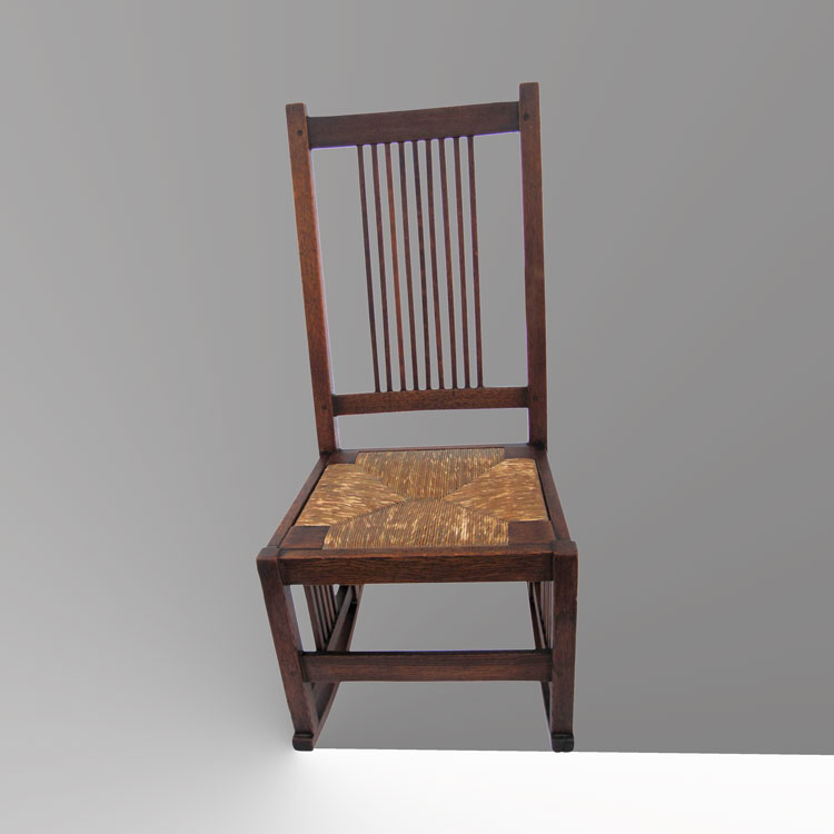 Home » Shop » Antique Furniture » Rockers » Antique Gustav Stickley Spindle  Rocking Chair W4105