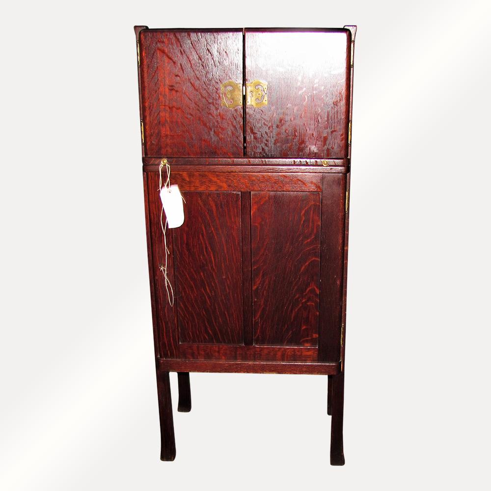 "Home » Shop » Antique Furniture » Other » Antique Arts & Crafts ""Michigan  Chair Company"" Celleret Liqure cabinet w4188 SALE 120 OFF - Antique Arts & Crafts"