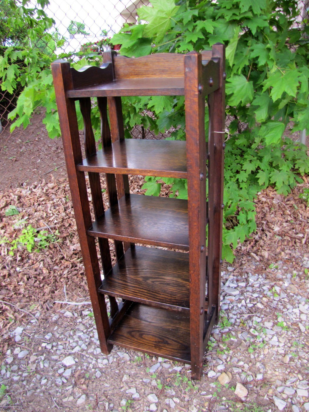 Home » Shop » Antique Furniture » Stands » Antique Michigan Chair Company  Magazine Stand Stickley Era w4259 - Antique Michigan Chair Company Magazine Stand Stickley Era W4259