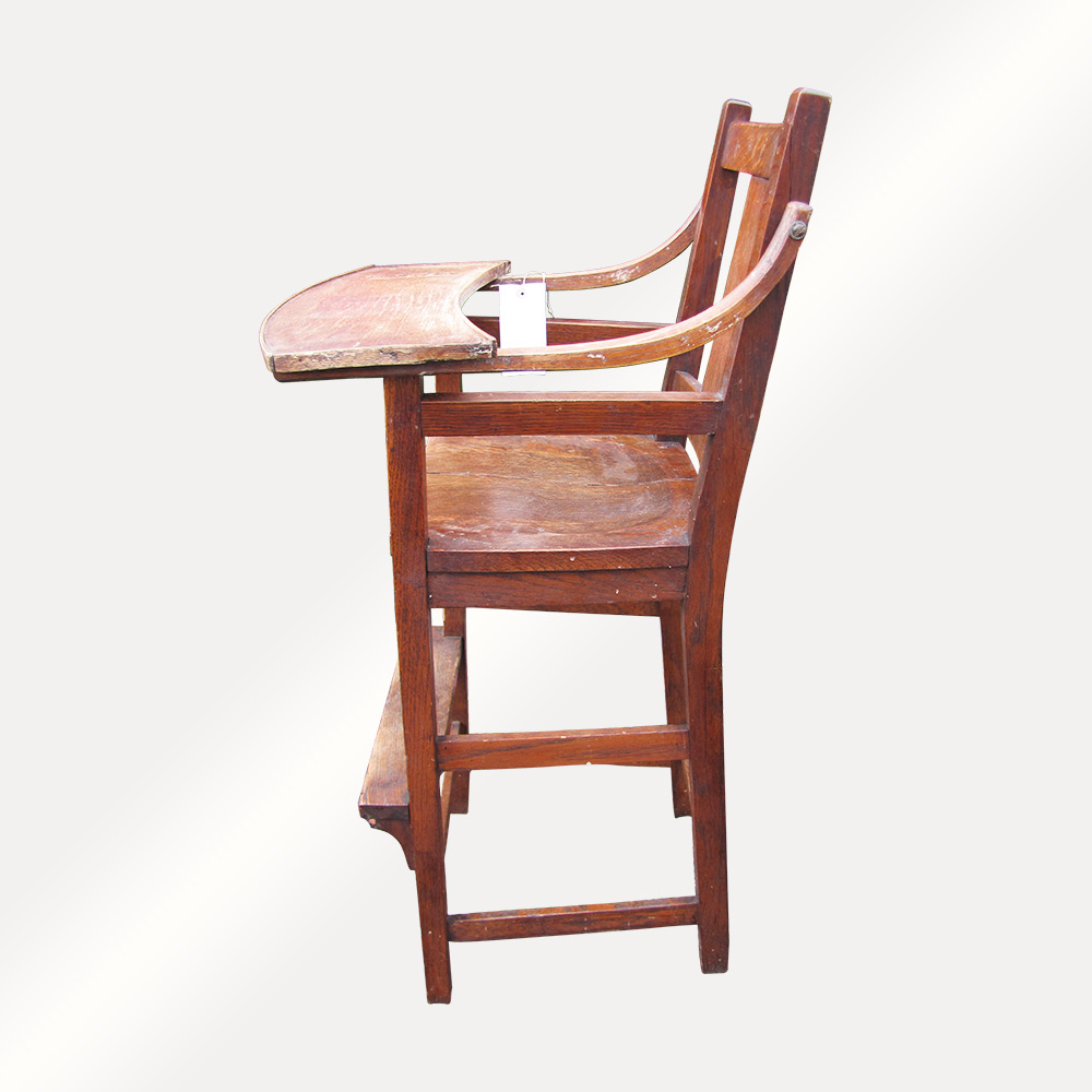 Home » Shop » Antique Furniture » Chairs » Antique Stickley Brothers High  Chair (Child's Chair) w4278 - Antique Stickley Brothers High Chair (Child's Chair) W4278 - Joenevo