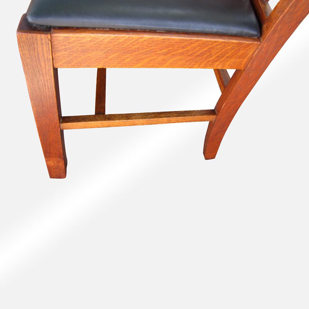 Antique Arts And Crafts, Stickley Era Wisconsin Chair
