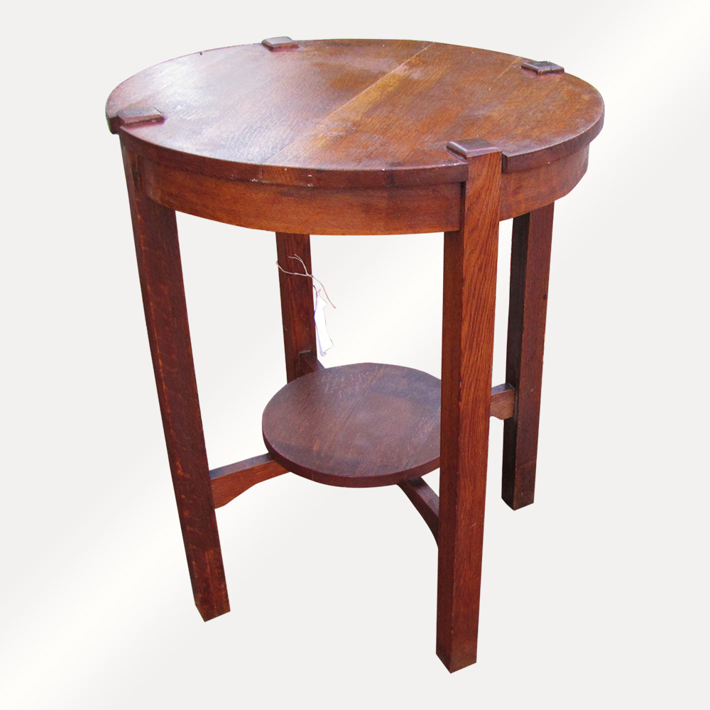Home » Shop » Antique Furniture » Tables » Antique Arts U0026 Crafts Lifetime Lamp  Table W4896 (Stickley Era)
