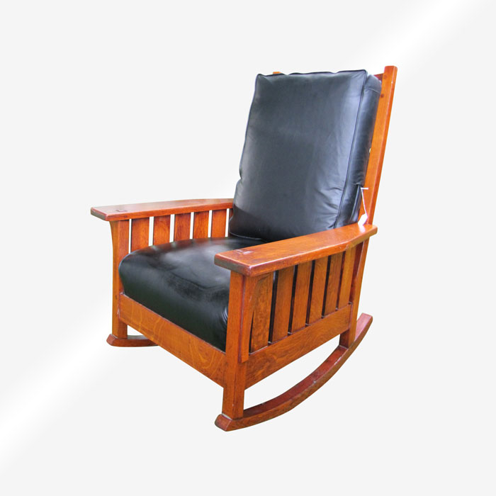 Outstanding Antique Ljg Stickley Large Arm Rocking Chair With Slats W4993 Creativecarmelina Interior Chair Design Creativecarmelinacom