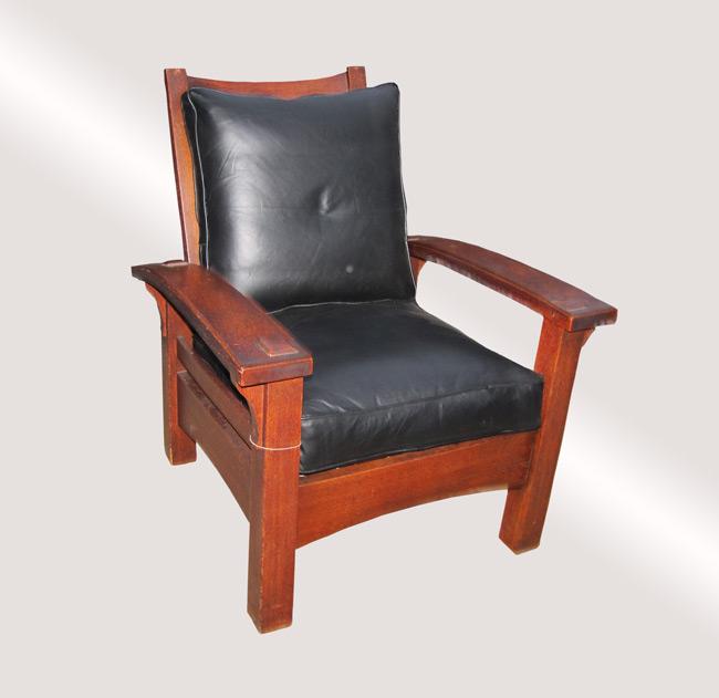 Home » Shop » Antique Furniture » Chairs » Antique Important & Rare 1901  Gustav Stickley Morris Chair w5158 FREE SHIPPING - Antique Important & Rare 1901 Gustav Stickley Morris Chair W5158