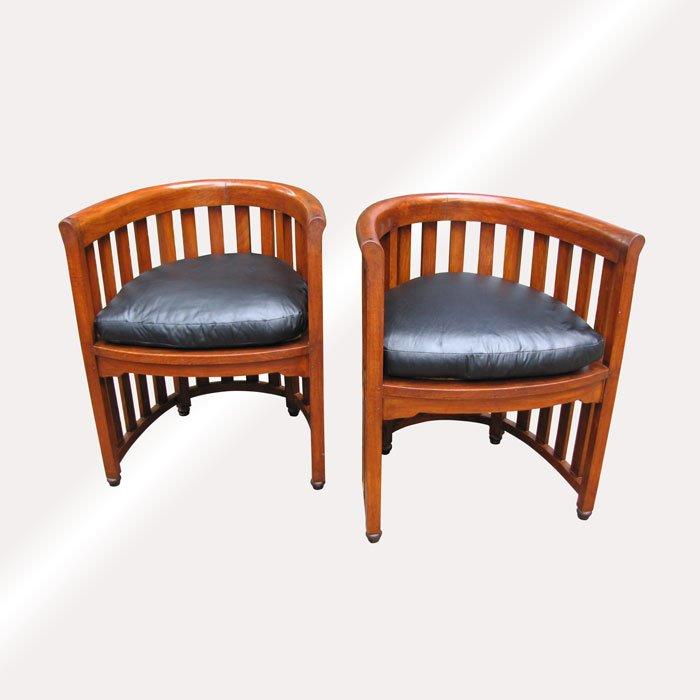 Home » Shop » Antique Furniture » Chairs » Superb Pair of Antique Josef  Hoffmann Barrel Chairs (stickley era) w5303 - Superb Pair Of Antique Josef Hoffmann Barrel Chairs (stickley Era