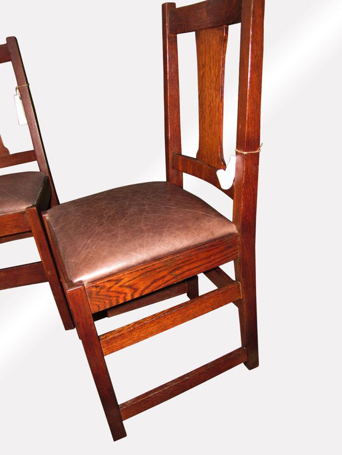 Home » Shop » Antique Furniture » Chairs » Antique Set of 3 L&jG Stickley  Side Chairs w5390 - Antique Set Of 3 L&jG Stickley Side Chairs W5390 - Joenevo