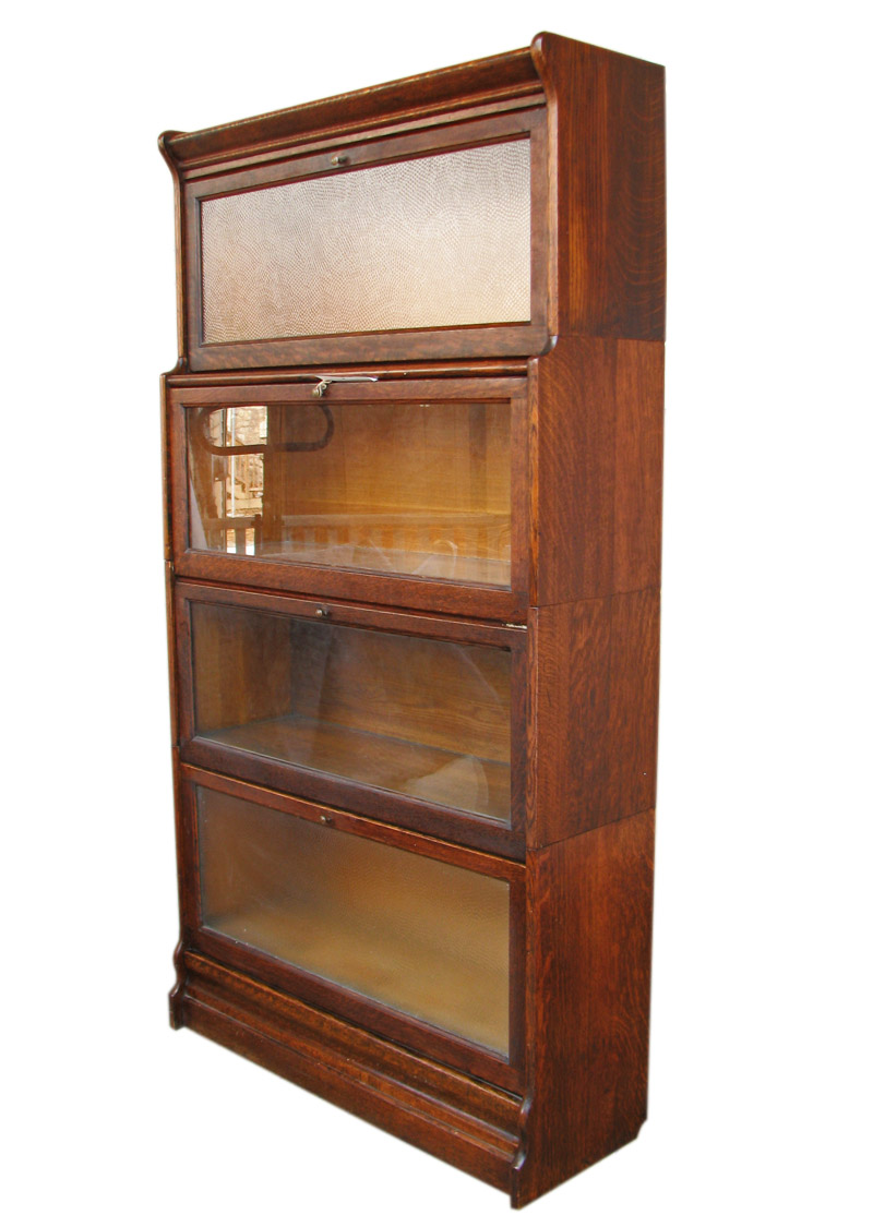 Arts Crafts Barrister Bookcase W64