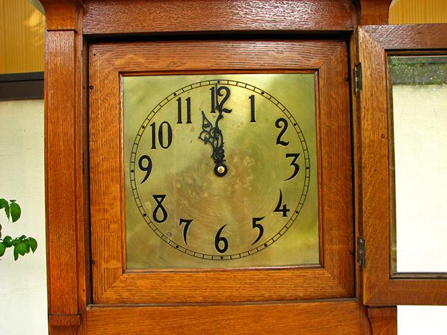 Arts & Crafts Grandfather Clock W947 - joenevo